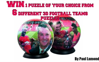Win a Paul Lamond Football Puzzle from a choice of Top Teams