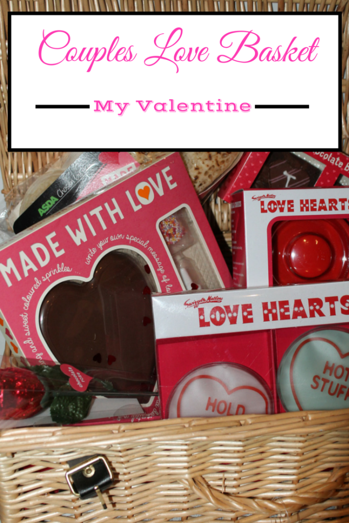 Valentines Day Ideas - DIY Couples Love Basket Version 2