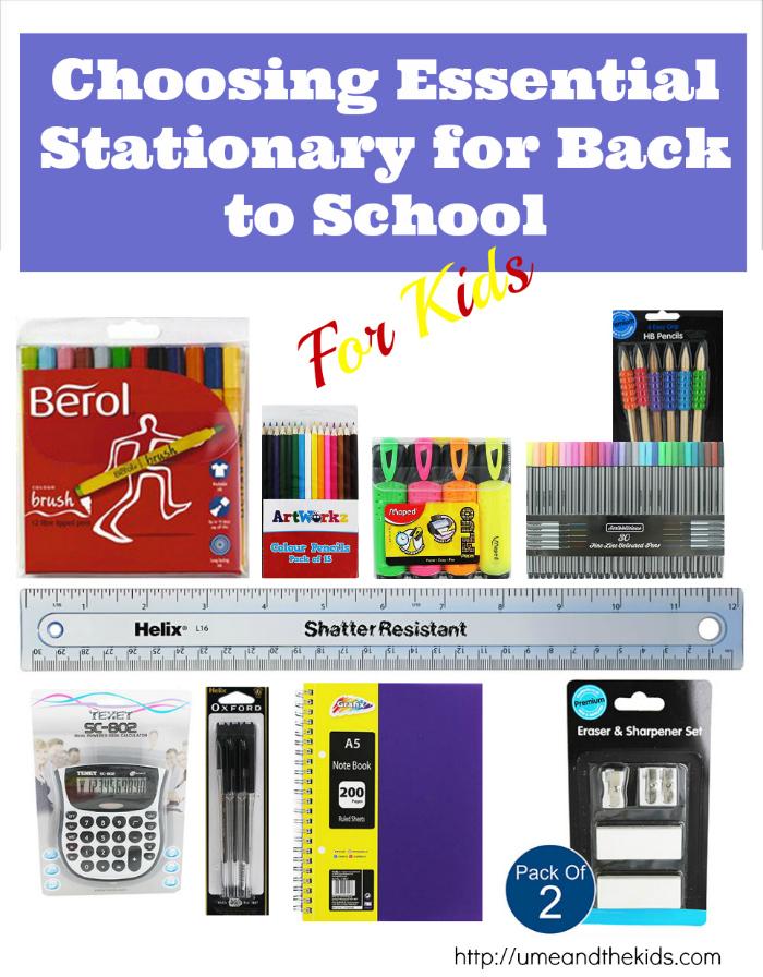 School stationery for back to school uk & ireland