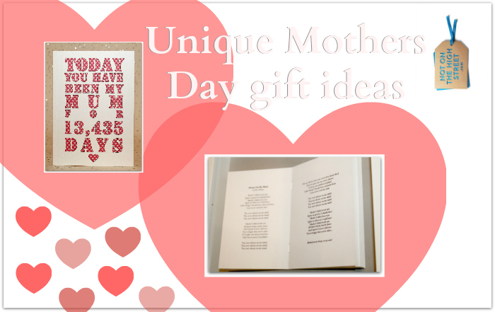 Unique Mothers Day gift ideas at not on the high street