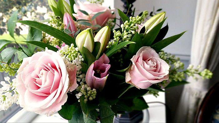 Mothers Day Flowers at Debenhams beautiful close up bouquet