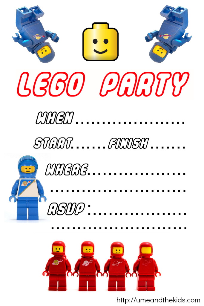 Free Printable LEGO Birthday Party Invitations U me and the kids – Lego Party Invitations Printable