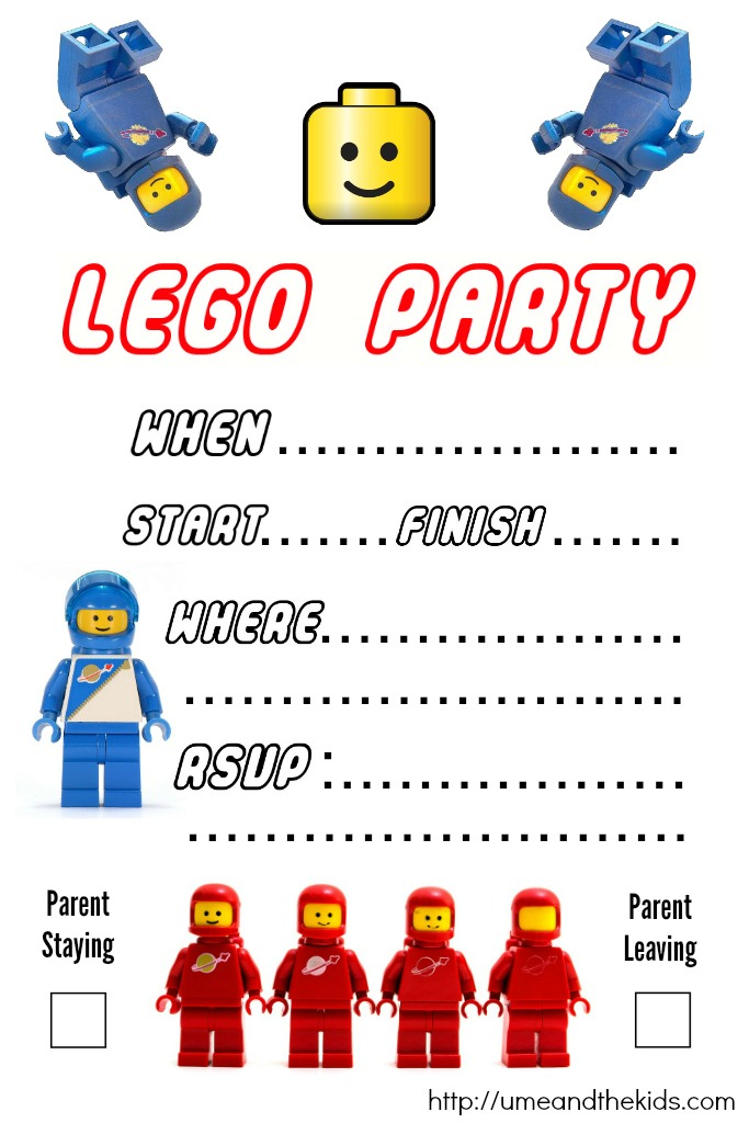 Universal image in lego birthday invitations printable