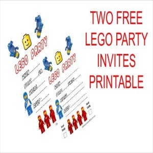 Free Printable LEGO Birthday Party Invitations