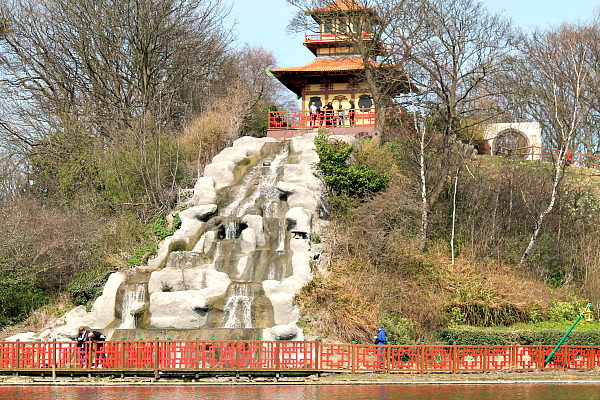 Things to do in scarborough Peasholm Park Chinese waterfall