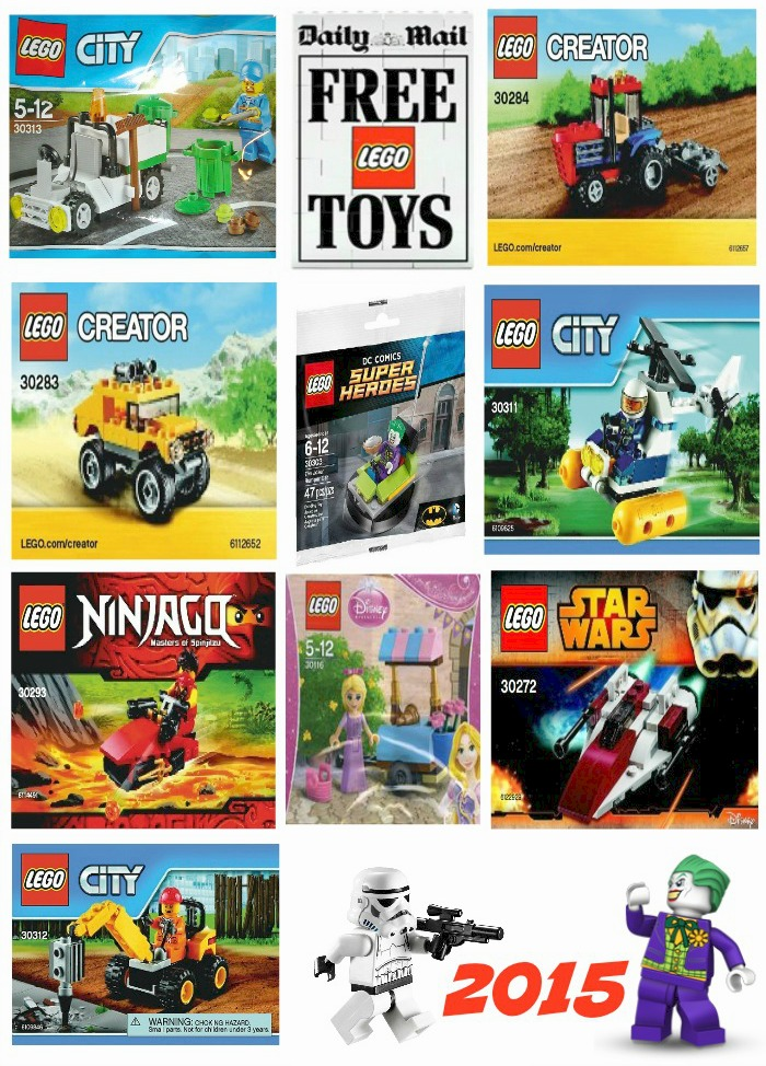 Daily Mail Lego Promotion 2015 the complete polybag collection