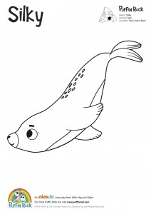 Free Puffin Rock colouring sheets -Silky