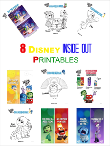 8 Totally Free Disney Inside out printables