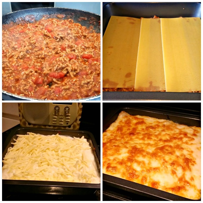 budget meals homemade lasagne