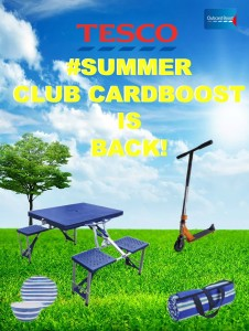 Tesco clubcard Boost 2015 for a stress free Summer