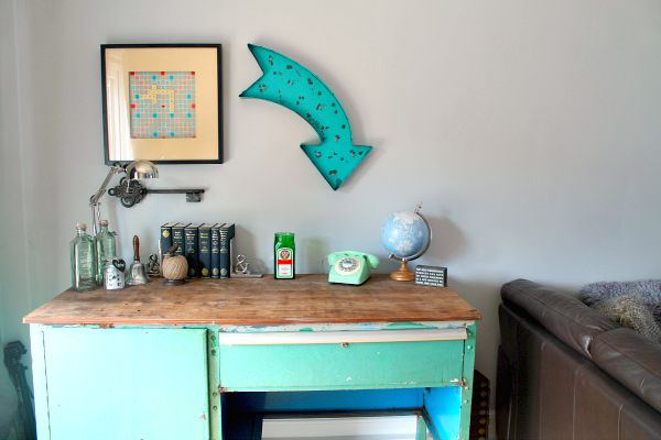 Home decor re purposed industrial desk