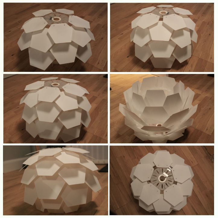 How to build an artichoke shade replica light final stages