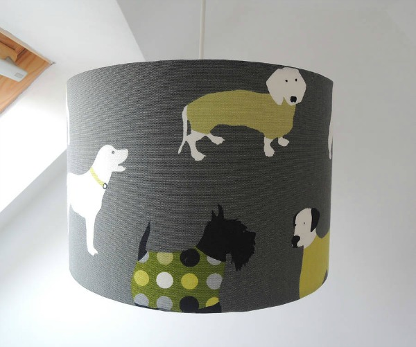 The Childrens Curtains Company - handmade-dog-fabric-lampshade