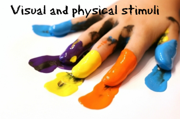 children's autism - finger painting