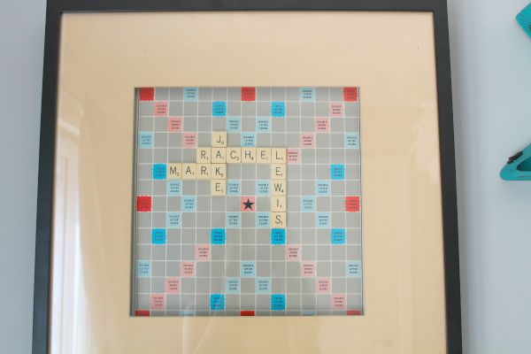 Home Decor Custom made scrabble picture with names