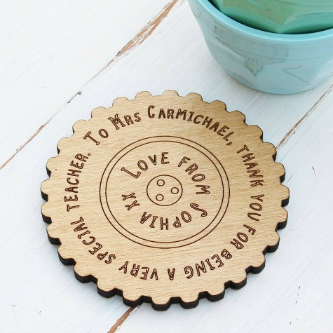 unique teacher gifts Personalised Teachers Gift Message Coaster