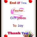 teacher gift ideas to say thank you