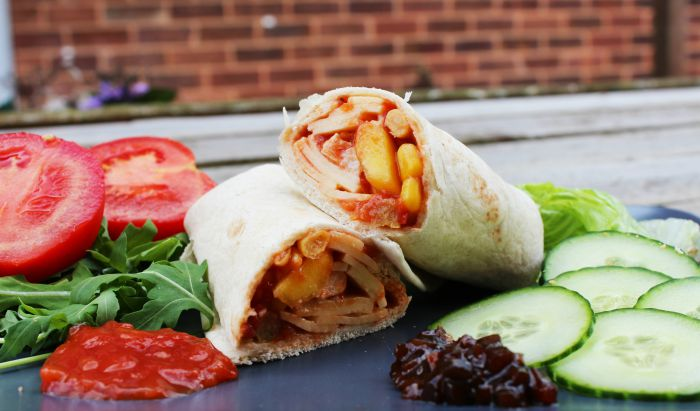 Chicken Salsa & Mango Wraps