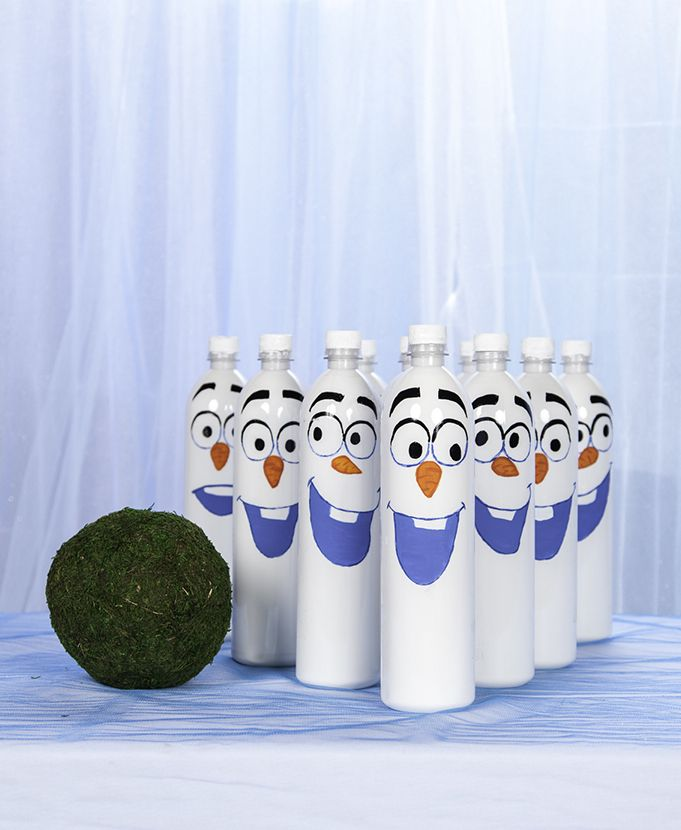 Frozen Birthday Party Ideas DIY Rockin Olaf Bowling
