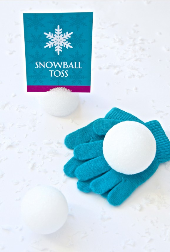 Frozen Party Ideas DIY Frozen Snow Balls