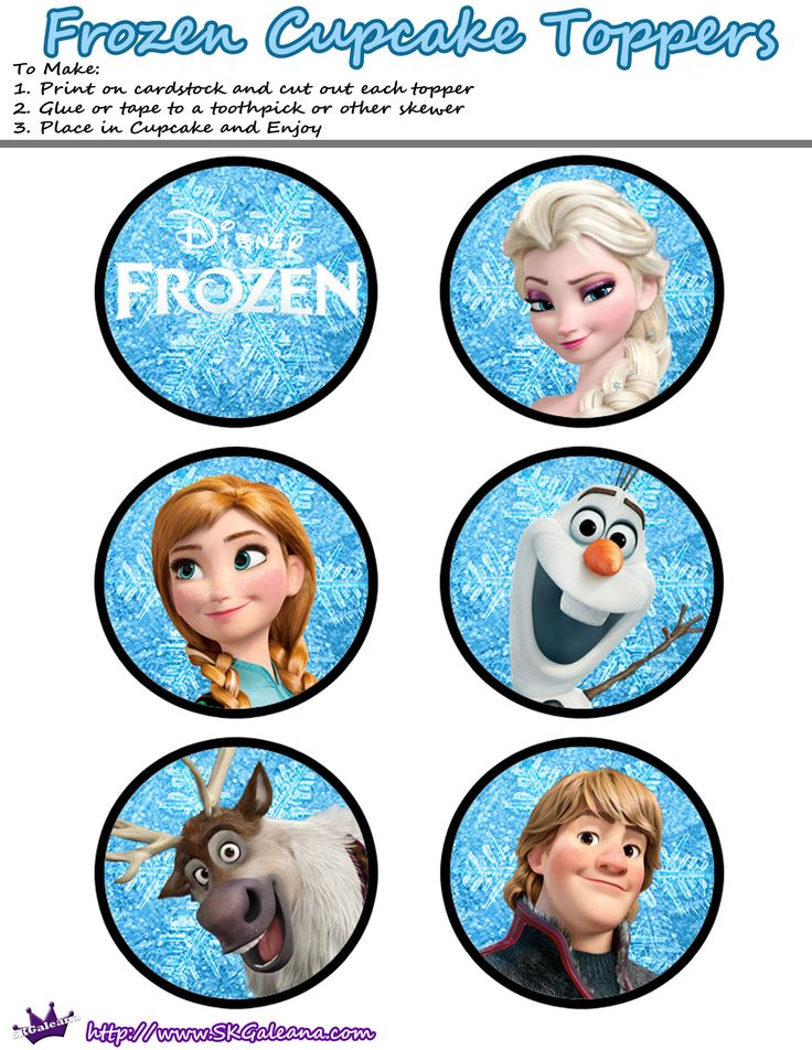 Frozen pop cake toppers