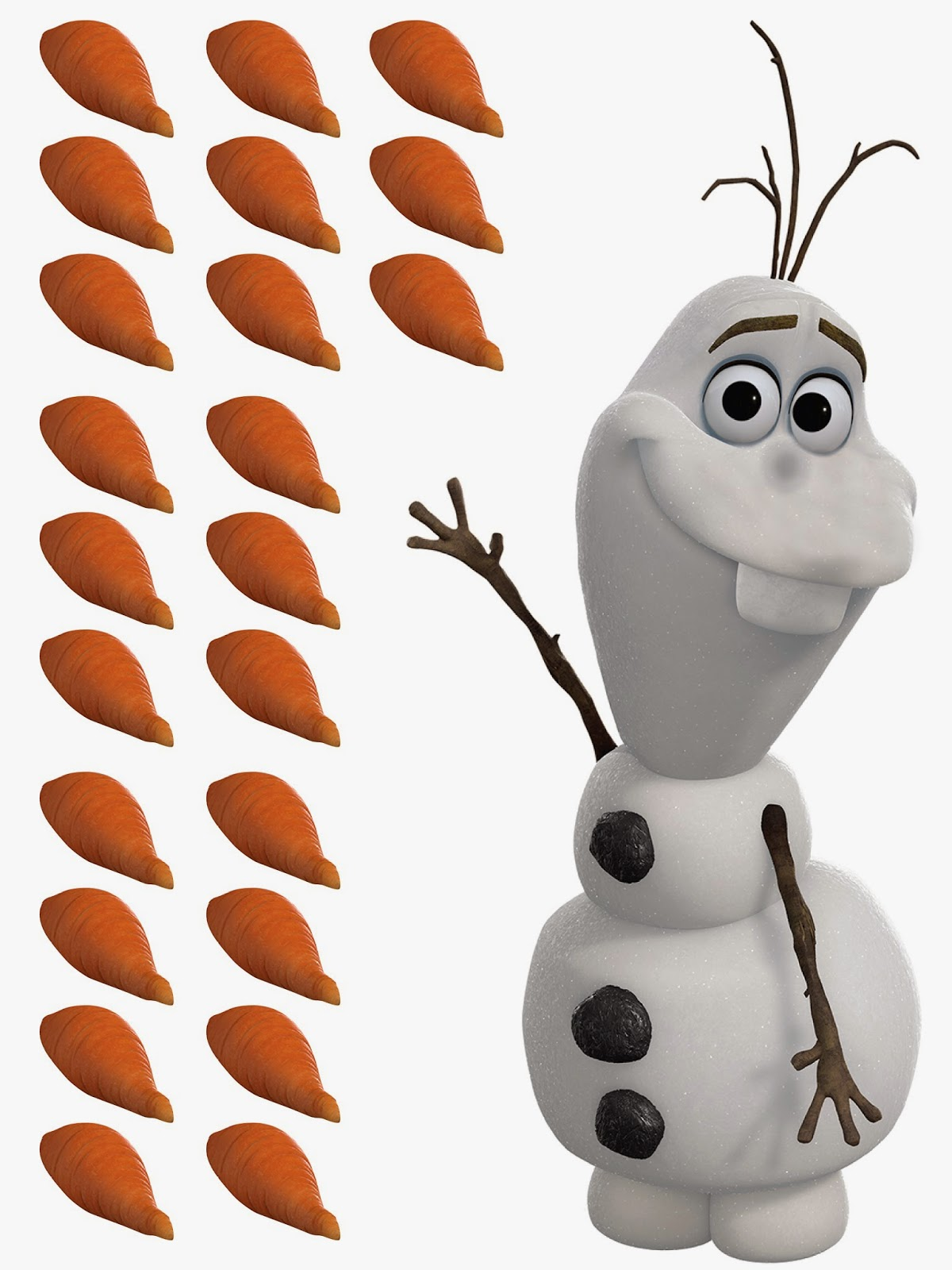 Frozen Birthday Party Ideas Pin the Carrot on Olaf