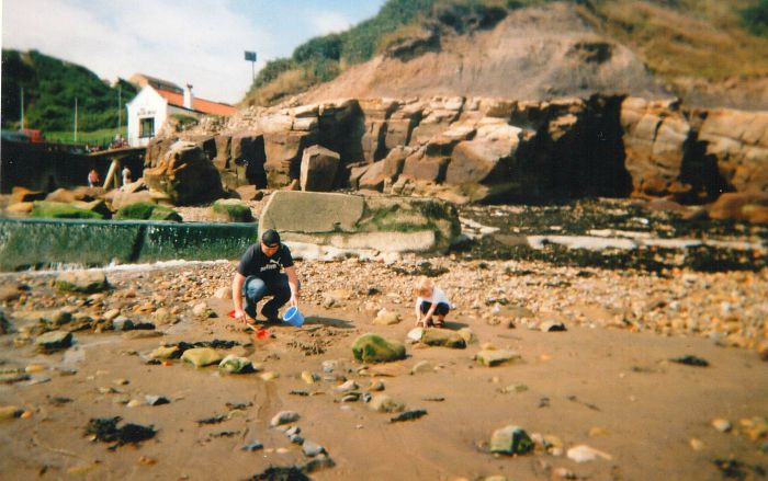 crabbing in Rock pools