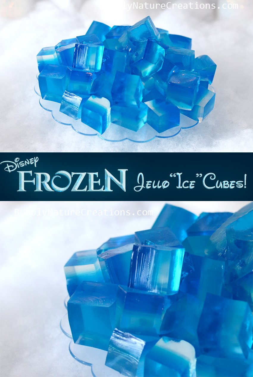 Frozen Party Ideas Jello Ice Cubes