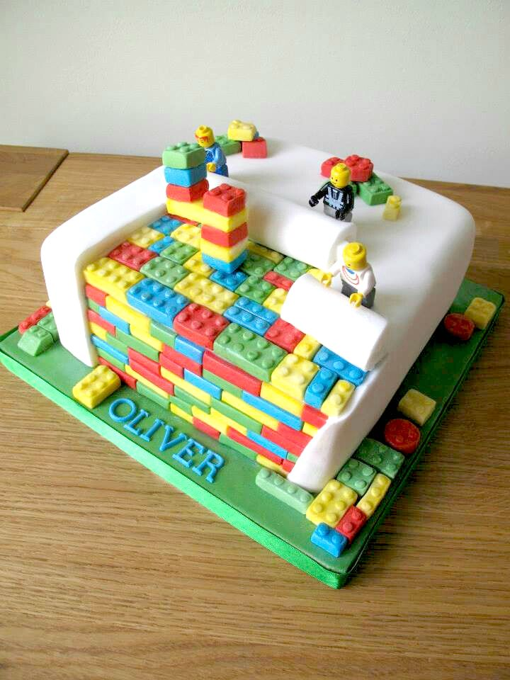 Lego Birthday Cakes Bricks And Minifigures