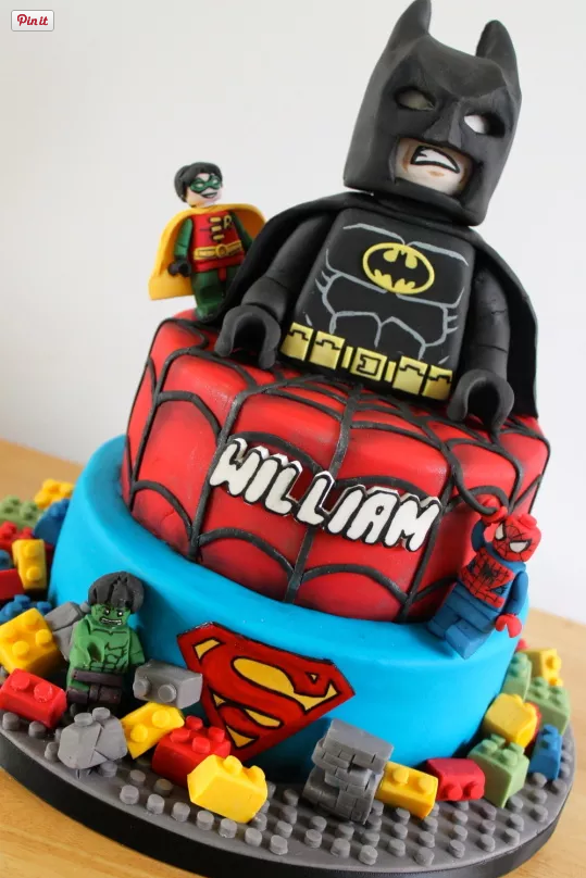 Lego Birthday Cakes Superheros