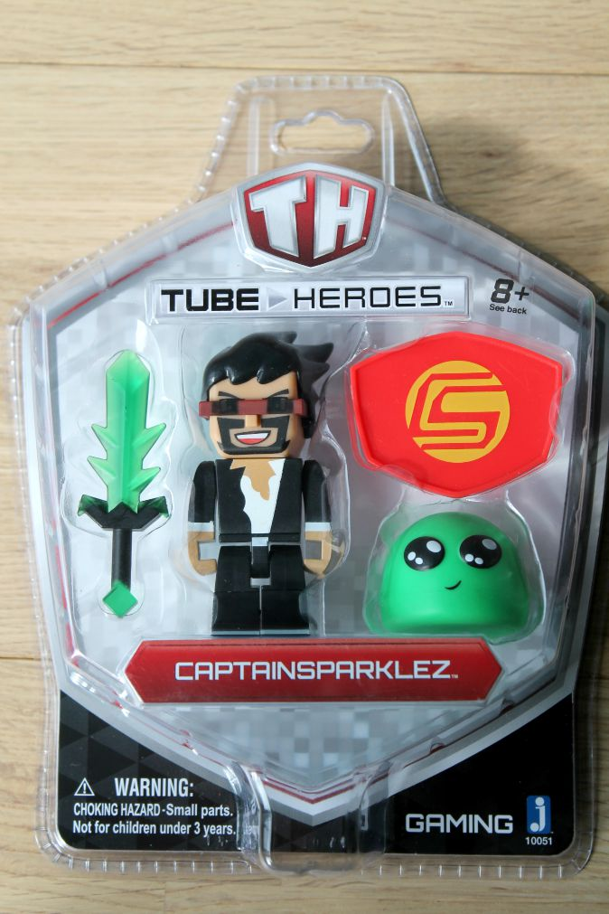 tube heroes CaptainSparklez jerry and slime sword figure