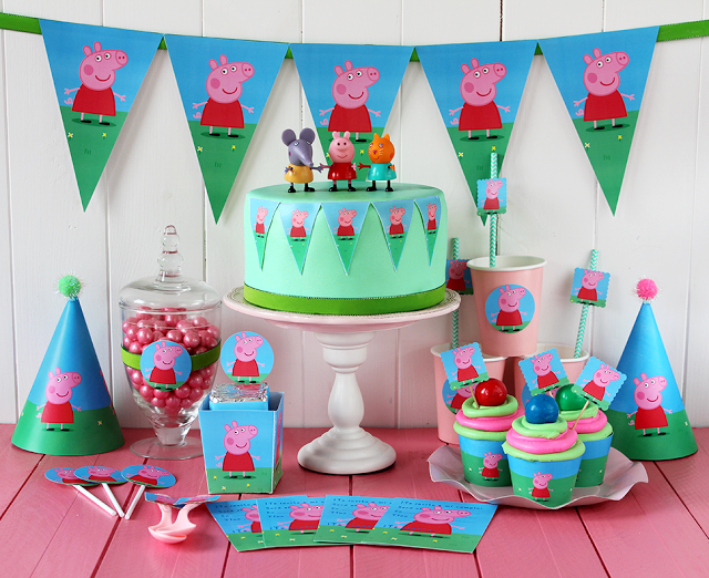 Free Peppa Pig Templates to decorate your buffet table