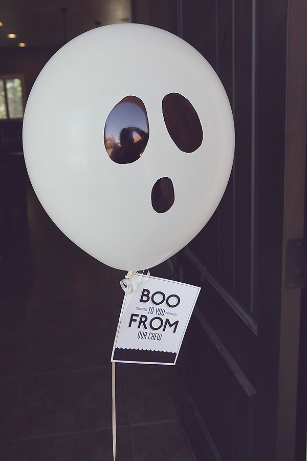 Halloween Boo Balloon and free printable