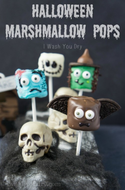 Halloween Marshmallow Pops Scary Heads