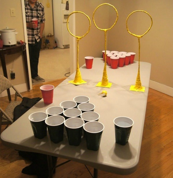 Harry Potter Birthday Party Ideas - DIY Quidditch Pong