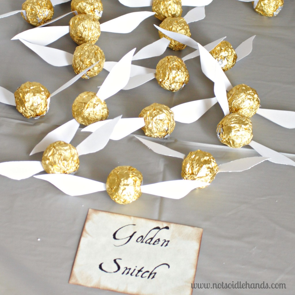 Homemade Golden Snitches Harry Potter Birthday Party Ideas