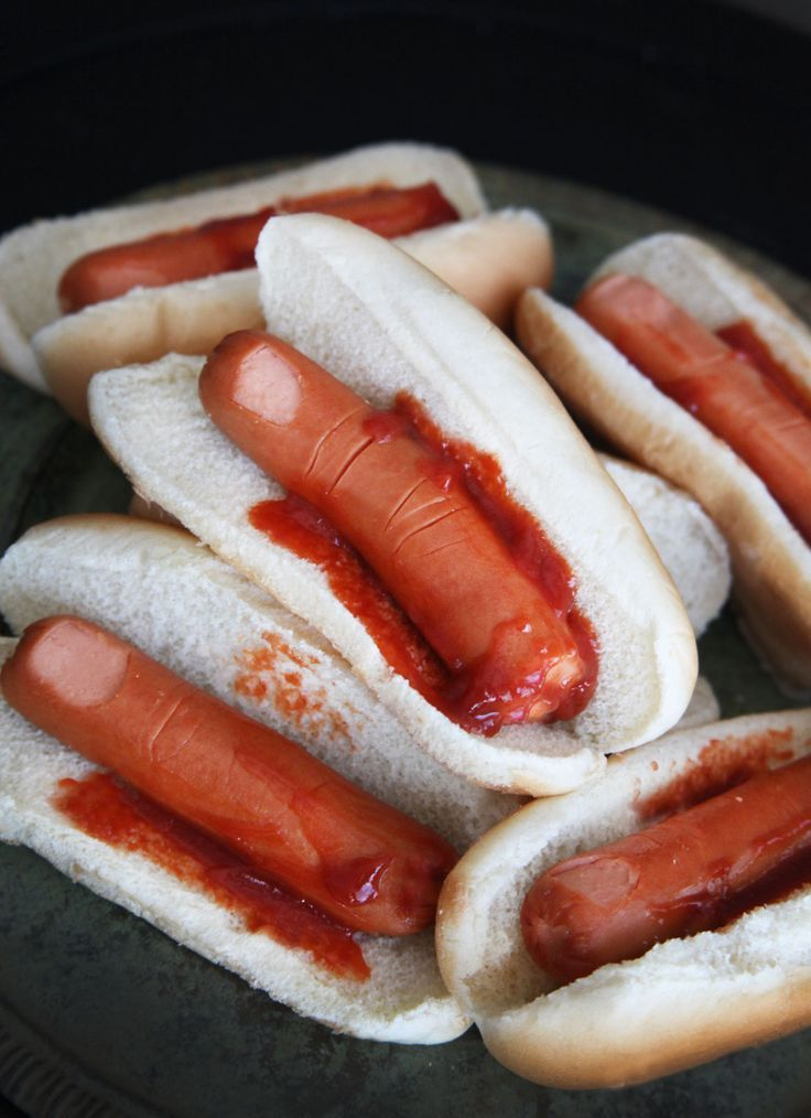 Easy Halloween Recipes Dog severed fingers recipe