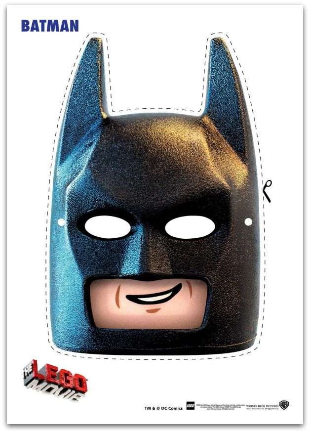 photograph about Printable Batman Mask known as 9 Absolutely free Lego Online video Printable Masks