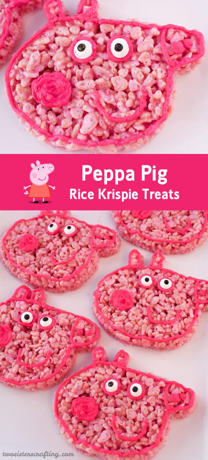 Peppa Pig Rice Krispie Treats