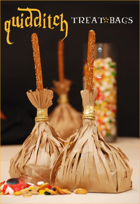 Qudditch Treat Bags - Harry Potter Birthday Party Ideas