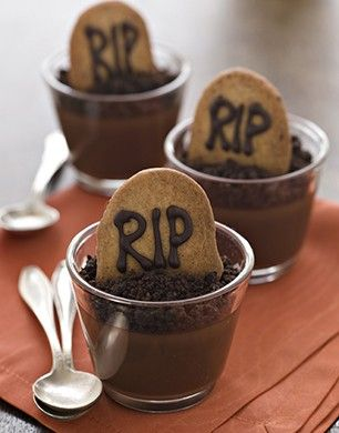 Easy Halloween Recipes RIP Chocolate Pots Recipe