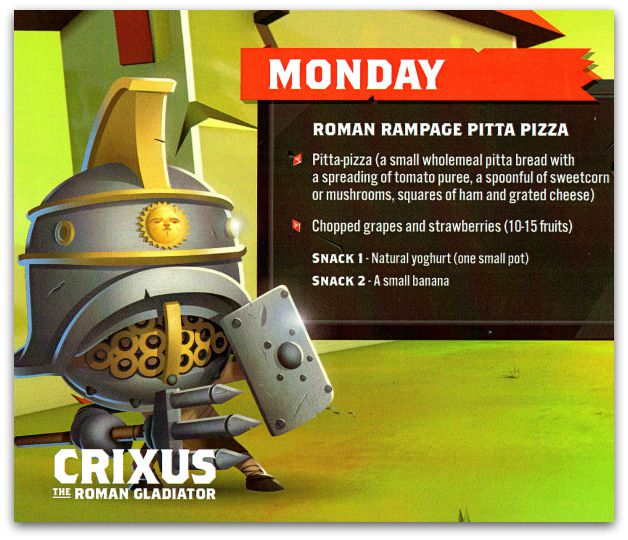 Roman Rampage Pitta Pizza Recipe for kids Instructions