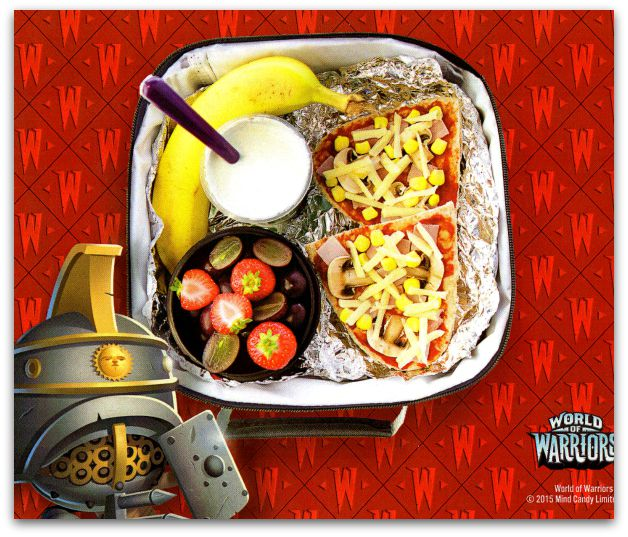 Roman Rampage Pitta Pizza Recipe for kids