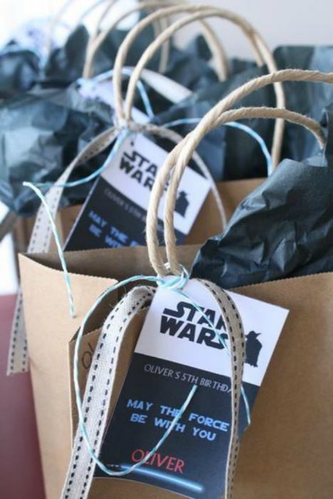 Star Wars Party Bag tags