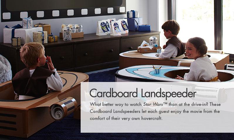 Star Wars Cardboard Landspeeders