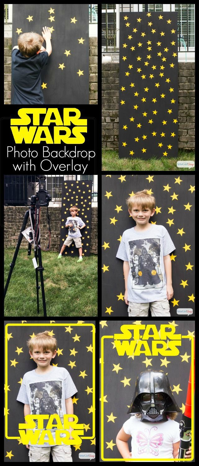 DIY Star Wars Birthday Party Photo Backdrop
