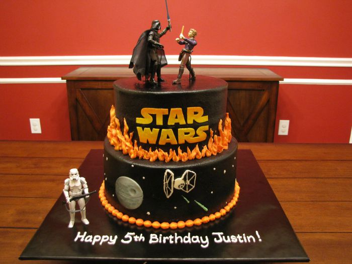 Star wars fight scene birthday cake