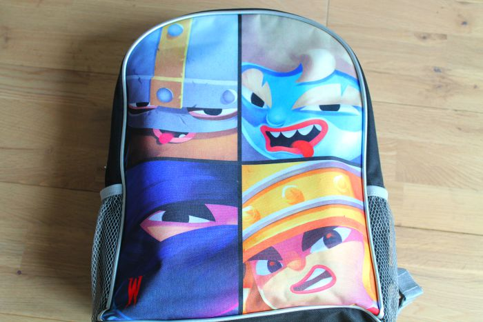 World of Warriors back pack