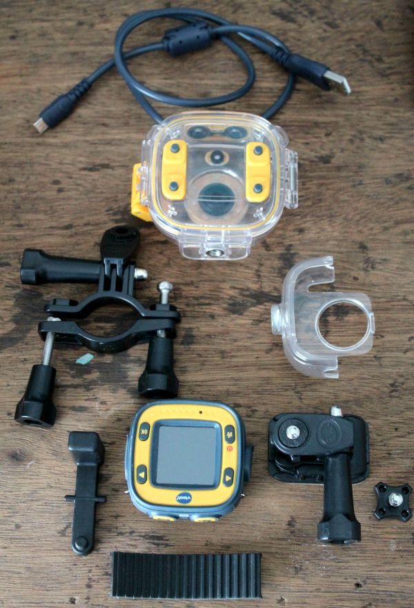 vtech kiddi action cam everything inside of the box