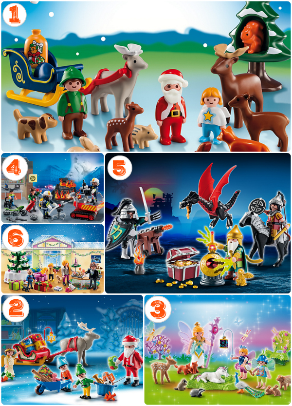 6 Playmobil Unique Advent Calendars for kids